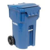 Otto Mobile Heavy Duty Trash Container, 65 Gallon, Blue