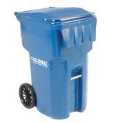 Otto Mobile Heavy Duty Trash Container, 95 Gallon, Blue