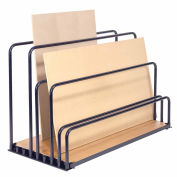 "Adjustable Floor Sheet Rack, Steel w/Plywood Deck, 48""L x 24""W x 36""H"