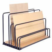 "Adjustable Floor Sheet Rack, Steel w/Plywood Deck, 60""L x 30""W x 36""H"
