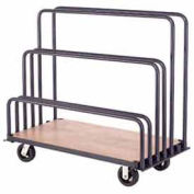 "Adjustable Mobile Sheet Rack, Steel w/Plywood Deck, 48""L x 24""W x 36""H"