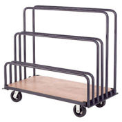 "Adjustable Mobile Sheet Rack, Steel w/Plywood Deck, 60""L x 30""W x 36""H"