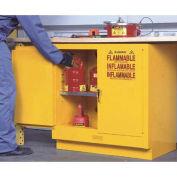 Bench High Cabinet, 22 Gallon Capacity, Self-Close Double Doors
