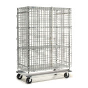 Wire Security Storage Truck with Dolly Base, 48x24x70, 1600 Lb. Cap.