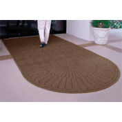 Waterhog Grand Classic Mat, One Oval / One Straight, Brown, 3'W x 10'L