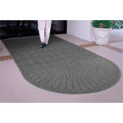Waterhog Grand Classic Mat, One Oval / One Straight, Gray, 3'W x 10'L