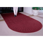 "Waterhog Grand Classic Mat, One Oval / One Straight, Black Red, 4'W x 5'11""L"