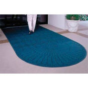 "Waterhog Grand Classic Mat, One Oval / One Straight, Navy, 4'W x 5'11""L"