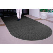 "Waterhog Grand Classic Mat, One Oval / One Straight, Charcoal, 4'W x 10'6""L"