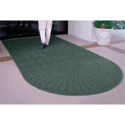 "Waterhog Grand Classic Mat, One Oval / One Straight, Green, 4'W x 10'6""L"