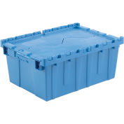 Distribution Container With Hinged Lid, 21.9x15.3x9.7, Blue