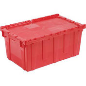 Distribution Container With Hinged Lid 24-1/2x14-7/8x13-3/4 Red