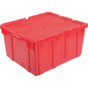 Distribution Container With Hinged Lid 23-3/4x19-1/4x12-1/2 Red