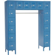 16 Person Locker, 12 x18x12, Ready To Assemble, Blue