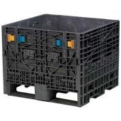 Buckhorn Folding Bulk Shipping Container, 32x30x25, 1800 Lbs. Black