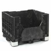 Buckhorn Folding Bulk Shipping Container, 48x40x34, 2500 Lbs. Black
