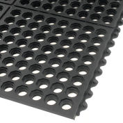 Extra Value Drainage Matting, 3'Wx20'L, Black, With Grit Top