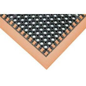 Apache Mills Hi-Visibility Safety Drainage Matting w/Grit Top 4-Sided Orange Border, 40x64