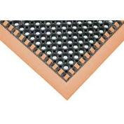 Apache Mills Hi-Visibility Safety Drainage Matting w/Grit Top 4-Sided Orange Border, 40x124