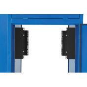 23U EIA Rail Kit, Black, Steel