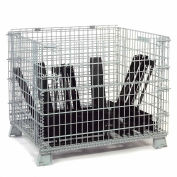 Folding Wire Container, 2000 Lb Capacity, 48x40x36-1/2