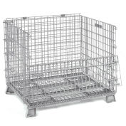 48x40x42-1/2 Folding Wire Container, 5000 Lb Capacity
