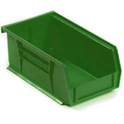 Akro-Mils Plastic Stacking Bin,  4-1/8 x 7-3/8 x 3 Green - Pkg Qty 24