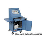 "LCD Mobile Console Computer Cabinet, Blue, 24-1/2""W x 22-1/2""D x 55-1/2""H"