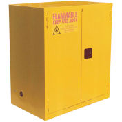 """Flammable Cabinet, 120 Gallon, Manual Close Double Door, 59""""W x 35""""D x 65""""H"""