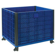 "Stakable Bulk Container w/ Collapsible Solid Wall, 39-1/4""L x 31-1/2""W x 29""H"