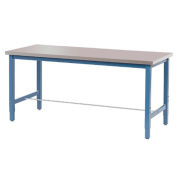 "Production Workbench - Stainless Steel Square Edge - Blue, 72""W x 30""D"