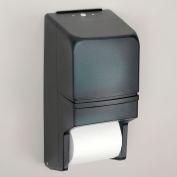 "Twin-Roll Plastic Toilet Tissue Dispenser - 6x6x13-1/4"" - Smoke"