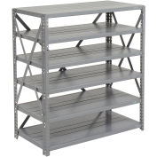 """Open Style Steel Shelf With 6 Shelves, 36""""Wx12""""Dx39""""H"""