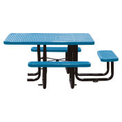 "58"" ADA Picnic Table, Blue, Expanded Metal Surface Mount"