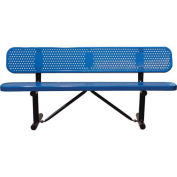 """96"""" Bench With Backrest, Surface Mount, Blue"""
