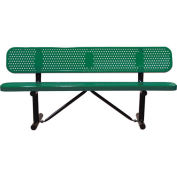 """96"""" Bench With Backrest, Surface Mount, Green"""