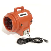 "Euramco Safety 8"" Portable Ventilation Fan, 1/3 HP, 980 CFM"
