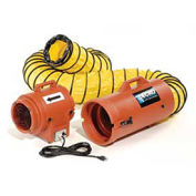 """Euramco Safety 8"""" Portable Ventilation Fan With 25' Ducting, 1/3 HP, 722 CFM"""