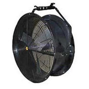 "J&D 24"" Black Poly Drum Fan With Bracket 1/2 HP 6920 CFM"