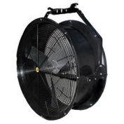 """J&D 36"""" Black Poly Chiller Drum Fan With Bracket, 1/2 HP 14300 CFM"""