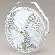 """J&D 18"""" Fan With Wall Ceiling Bracket 1/8 HP 3120 CFM, White, POW18"""