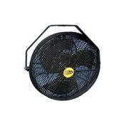 """J&D 18"""" Fan With Wall Ceiling Bracket 1/8 HP 3120 CFM, Black"""