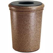Commercial Zone 50 Gallon Waste Container, Concrete, Sedona