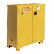 """Flammable Cabinet FM28, with Legs, Manual Close Double Door 28 Gallon, 34""""W x 18""""D x 48""""H"""