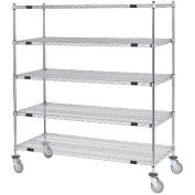 Open Sided Wire Exchange Truck, 5 Wire Shelves, 800 Lb. Cap., 36x18x69