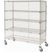 """Enclosed Wire Exchange Truck 5 Wire Shelves 800 Lb. Cap., 48""""x18""""x69"""""""