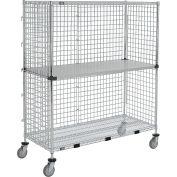 "Enclosed Wire Exchange Truck 2 Wire 1 Galvanized Shelf 1000 Lb Cap, 48""x18""x69"""