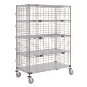 "Enclosed Wire Exchange Truck 4 Wire 1 Galvanized Shelf 1000 Lb Cap, 48""x18""x69"""