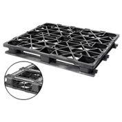 "Plastic Double Deck Pallet 48"" x 40"" Capacity 3000 Lbs"