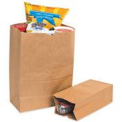 "Kraft Grocery Bags - 12x7x17"" - 1/6 BL Bag - Case of 500"